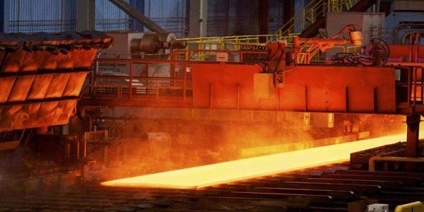 Sản xuất thép tấm tại nhà máy