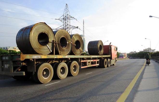 Vận chuyển sắt thép : Thép xây dựng, thép cây, thép cuộn, tôn, thép ống, thép tấm, thép H U I V.....